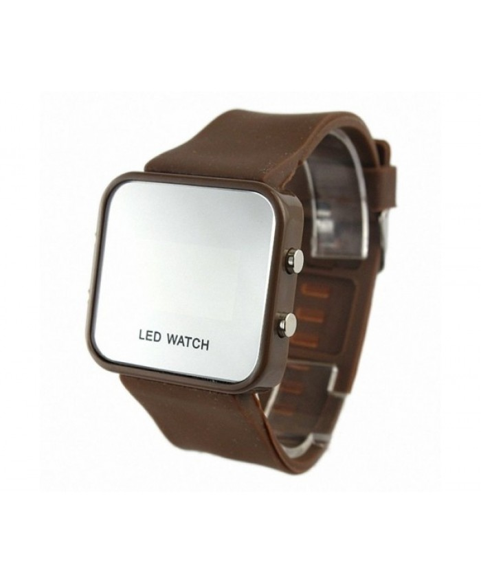 Adeeing Colorful Exquisite Appearance Digital LED Mirror Watch with Soft Rubber Material